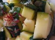 salade courgettes, vinaigrette citron vert safran
