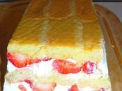 Charlotte fraises, mascarpone fromage blanc