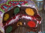 Polka Cake {gâteau pois multicolores}