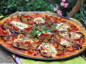Pizza polenta aubergines mozzarella