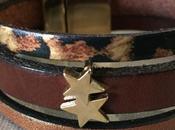 Bracelet cuir marron léopard