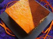 Cheesecake marbré potiron-orange/chocolat pour Halloween