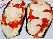 Aubergines farcie tomate mozza