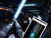 Jeu-vidéo star wars transforme smartphone sabre laser