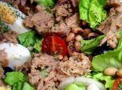 Salade cornilles thon oeufs