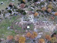 ruines d'une ancienne cité grecque inconnue trouvées altitude