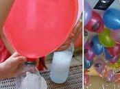 Astuce pour gonfler ballons flottants sans hélium. Incroyable!