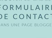 Ajouter formulaire contact Blogger DANS page