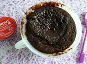cake coulant chocolat chicorée (hyperprotéiné, diététique, végétarien, sans sucre beurre oeuf riche fibres)