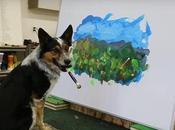 Peintre chien Jumpy