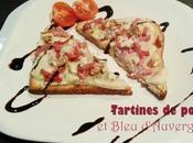 Tartines poire Bleu d'Auvergne