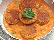 Croquettes lentilles corail, sauce tomate-coco (vegan)