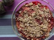 Crumble rhubarbe betterave