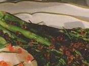 Bouquet d'asperges vertes oeufs saumon