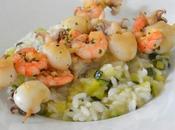 brochette seiche gambas marinées plancha risotto courgettes parmesan