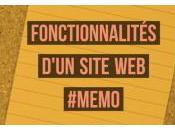 Mémo fonctionnalités pour votre site Internet