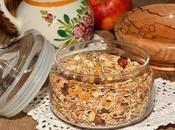 Recette muesli (birchermuesli) flocons d'avoine, pommes, noisettes (Suisse, Zurich)