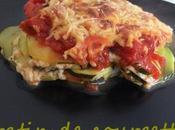 Gratin courgettes (crème mozzarella)
