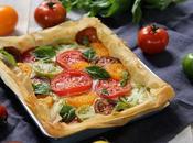 Tarte facile croustillante chèvre tomates multicolores