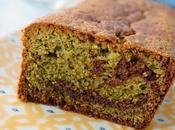 Cake marbré Matcha chocolat noir