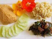 Assiette complète (houmos, kale miso, etc.) (Vegan)