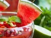 Gaspacho tomates pastèque menthe