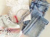 Look Little Girl Polka dots Jeans