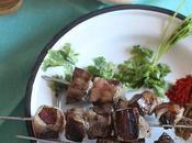 Boulfaf Brochettes foie crépine mouton