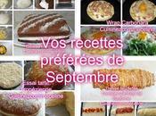 recettes préférées Septembre 2016