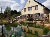 Jardin bassin baignade privatif naturel sans béton