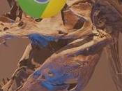 Astuce Google Chrome: tyrannosaure caché derrière Internet!