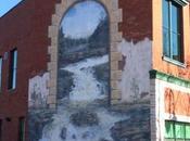 magnifiques murales trompe l'œil centre-ville Sherbrooke