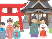 Shichi-Go-San jour fête Japon pour enfants trois, cinq sept
