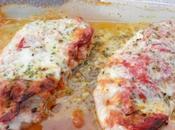 Escalopes dinde gratinées chorizo mozzarella