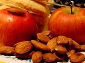 Pommes, Cheddar, amandes