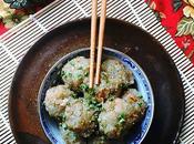 Niouk Boulettes chouchou {chayotte} chevrettes secs {petites crevettes rivière séchées} vapeur, recette sino-mauricienne plutôt originale