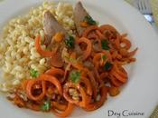 Aiguillettes canard carottes l'orange
