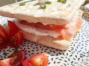 Sandwich saumon fumé