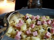 Coquillettes jambon, comte & tapenade truffes noires