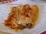 Cannellonis bœuf épinard