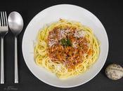 Spaghetti bolognese végétarienne protéine vegan potiron avec partenaire Elixanatur