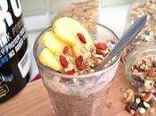 P'tit dej' complet gourmand pour sportifs l'Overnight Porridge chocolat
