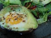 Avocat cuit l'œuf