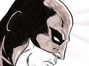 Image profil Batman pinceau l'encre chine