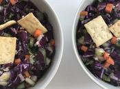 Salade croquante chou rouge