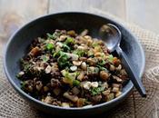Salade lentilles céléri noisettes menthe