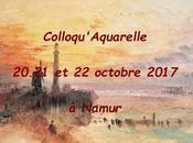 Aquarelle après symposium Avignon .voici colloque Namur