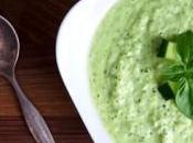 Soupe concombre allégée basilic frais