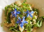 Taboulé ultra-rapide Miduna, persil fleurs Bourrache (Vegan)
