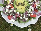Salade d'avocat fraises